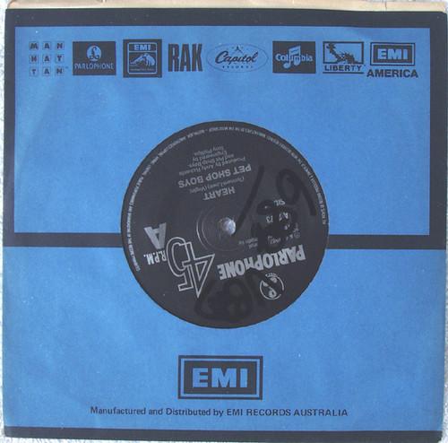 "RARE!!! Synth Pop - Pet Shop Boys Heart 7"" Vinyl 1988"
