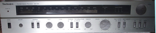 TECHNICS Stereo Receiver Model SA-104  Front Panel SPARE PART