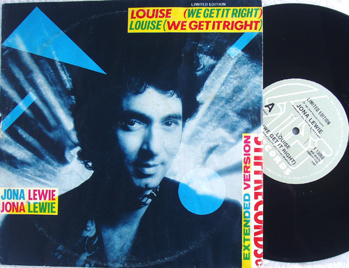 "New Wave Rock Pop - JONA LEWIE Louise (We Get It Right) 10""  Vinyl 1981"
