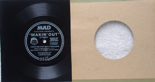 "Funk Disco- MAD Magazine Makin' Out  7"" Flexidisc 1978"