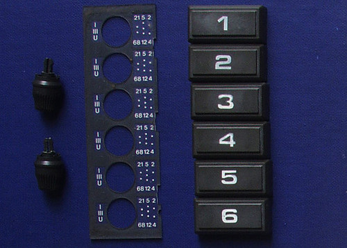 PHILIPS PM 5519 Preset Channel Knobs/Buttons ONLY (SPARE PART)