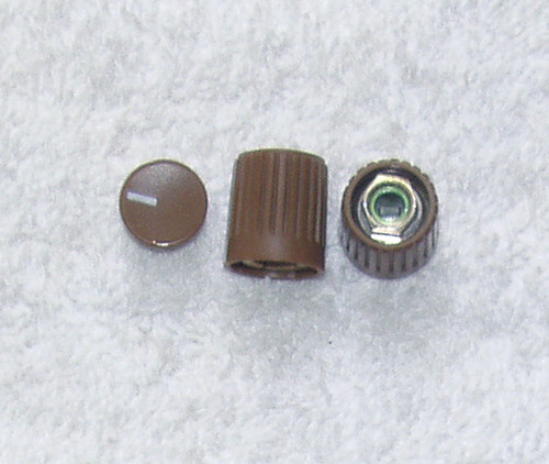PHILIPS PM 5519 Set Of 2x Front Panel Collet Knobs (SPARE PART)