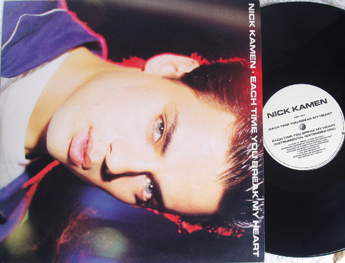 "Synth Pop - NICK KAMEN Each Time You Break My Heart 12""  Vinyl 1986"