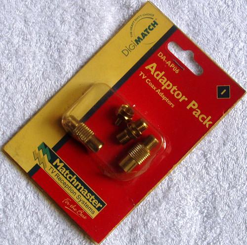 DIGIMATCH TV Coax Adaptor Pack (F Type) DA-AP06 (NOS)