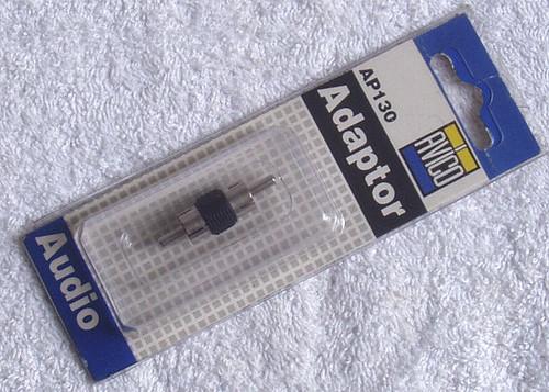 AVICO RCA Male Plug To RCA Male Plug Adapter AP130 (NOS)