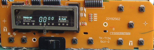 NAD CD Player Model: 5255  Display & Control Switches PCB  SPARE PART