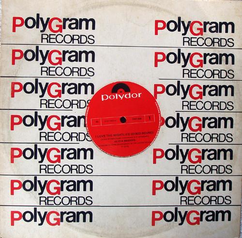 """Disco - ALICIA BRIDGES I Love The Nightlife  (Disco Round) 12"""" Vinyl 1988"""