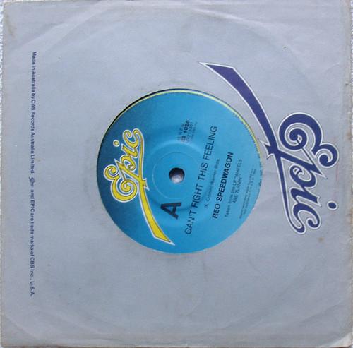 "Pop Rock  - REO SPEEDWAGON Can't Fight This Feeling  7"" Vinyl 1984"