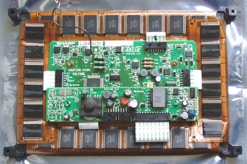 "8.9"" SHARP Industrial EL-LCD screen module (Yellow/Orange) (ex ANRITSU RF Test Equipment)"