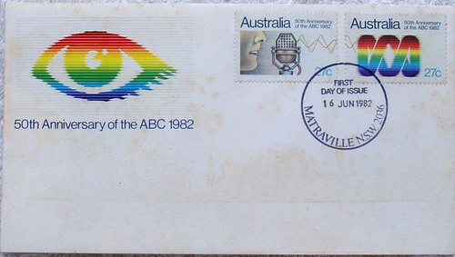 AUSTRALIA POST FIRST DAY COVER ABC 50th Anniversary 1982