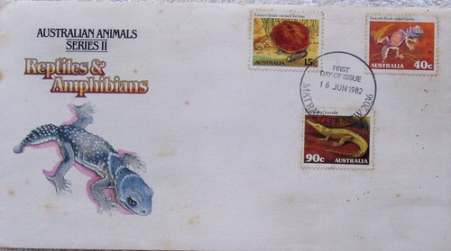AUSTRALIA POST FIRST DAY COVER Reptiles & Amphibians 1982
