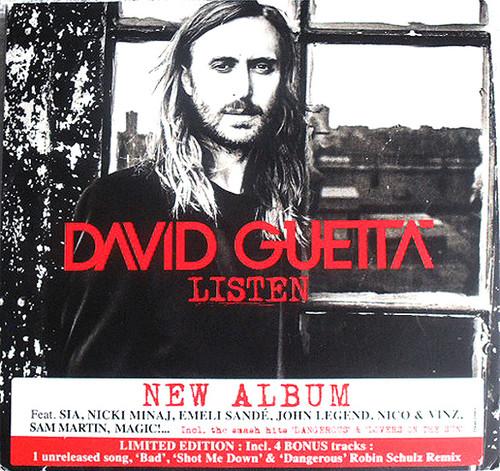 Euro Dance Revival - DAVID GUETTA Listen (Ltd Edition) 2x CD 2014