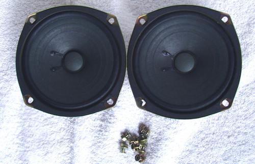"""Vintage YAMAHA Loudspeakers (2) 4"""" 4 Ohm 5 Watt RMS"""