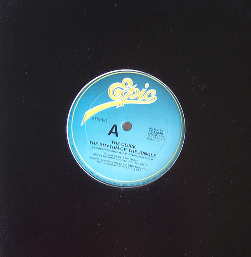 """Synth Pop - THE QUICK The Rhythm Of The Jungle  12""""  Vinyl 1982"""