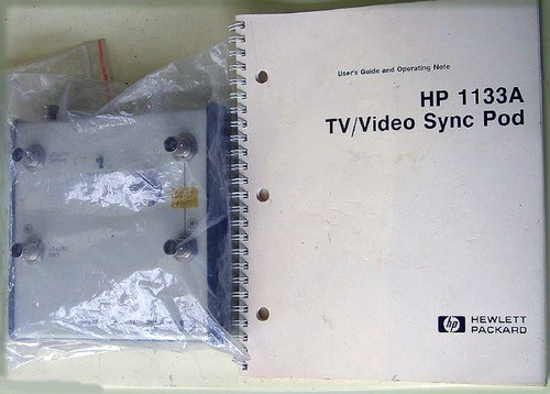 HEWLETT PACKARD TV/Video Sync Pod Model: 1133A With Manual