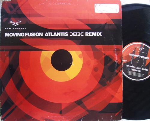 "Drum N Bass -  MOVING FUSION Atlantis ( ƆƐI3C Remix) 12"" Vinyl 2001"