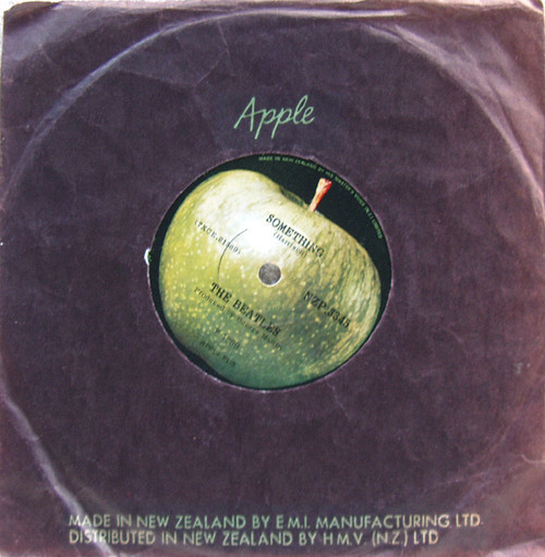 "Pop Rock - THE BEATLES Something/Come Together  7"" NZ Vinyl 1969"