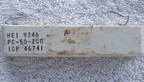 VISHAY 20 Ohm 50 Watt Wirewound CERAMIC BODY Fixed Resistor USED