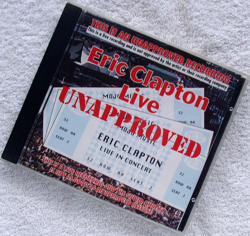 Blues Rock - ERIC CLAPTON Live Unapproved CD 1994