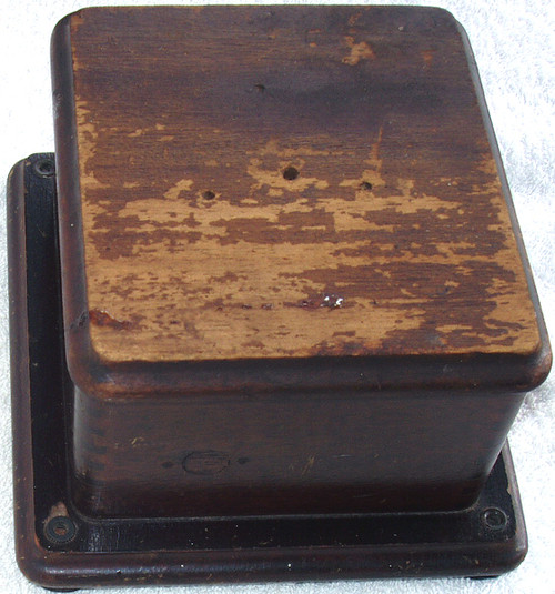 1930's ENGLISH OAK Telephone Ring Generator Box EMPTY