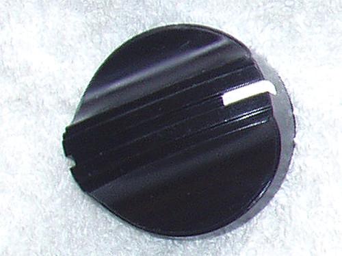JAPANESE Black Knob With White Pointer 37mm Diameter Spline Fitting