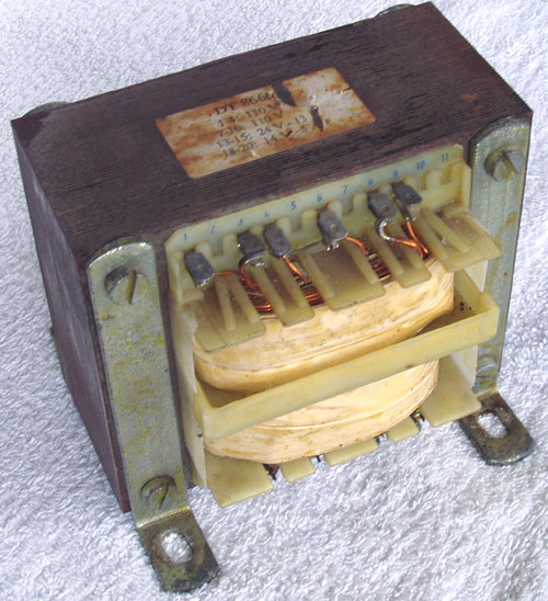 AC POWER TRANSFORMER 220V => 14V & 24V 380VA (USED)