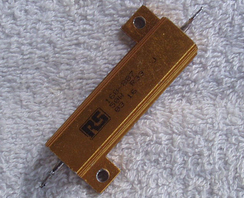 RS 330mΩ 50 Watt Wirewound Aluminium Housed Fixed Resistor USED