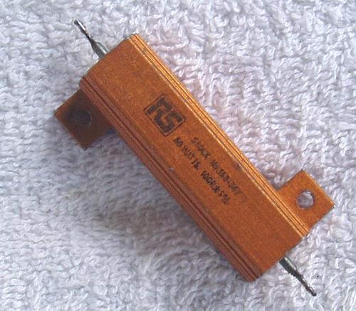 RS 100Ω 50 Watt Wirewound Aluminium Housed Fixed Resistor USED