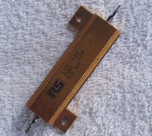 RS 22Ω 50 Watt Wirewound Aluminium Housed Fixed Resistor USED