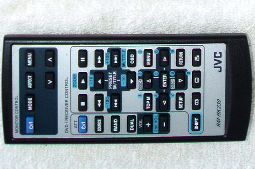 JVC CD DVD RX Mobile AV Remote Control (ONLY) RM-RK230 TESTED/WORKING