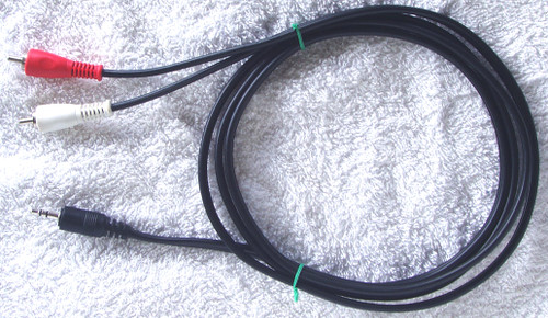 AUDIO ADAPTER LEAD (3.5mm Stereo To 2x RCA 2 metres) USED