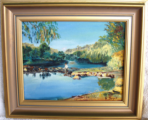 Australian R.JOYCE Murrumbidgee River Near Cooma (Oil On Canvas)