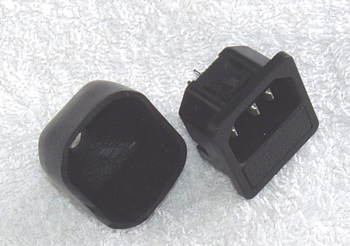 Clip Lock Panel Mount IEC SOCKET (Male) With Fuse Holder (USED)