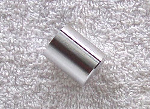 "1970's Solid Aluminium Knob With Black Pointer Line 1/4"" Shaft"