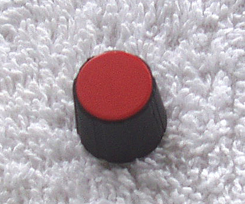 Professional COLLET KNOB - RED Cap Black Body 13mm Diameter