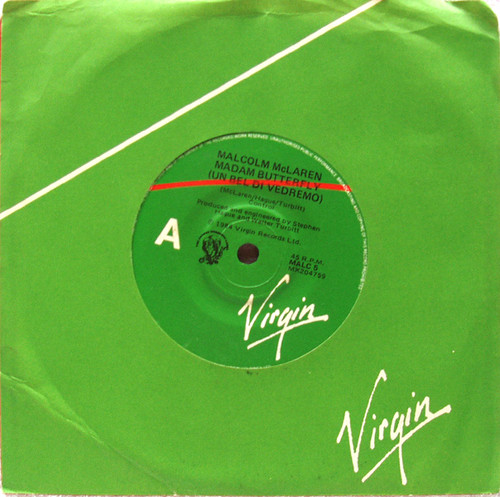 "Classical Synth Pop - MALCOLM MCLAREN Madam Butterfly (Un Bel Di Vedremo) 7"" Vinyl 1984"
