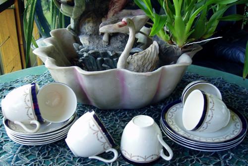 "English Chinaware - ALFRED MEAKIN #1867 ""Bleu De Roi"" Tea Service"