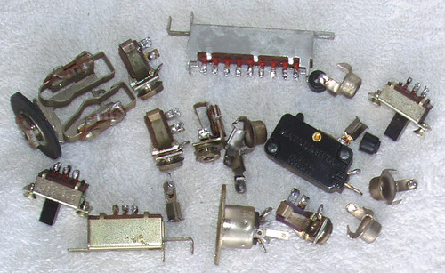 (SPARE PARTS) NATIONAL Tape Recorder Model: RS-760S  Assorted Switches Etc