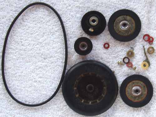 (SPARE PARTS) NATIONAL Tape Recorder Model: RS-760S  Belt Pulleys Etc