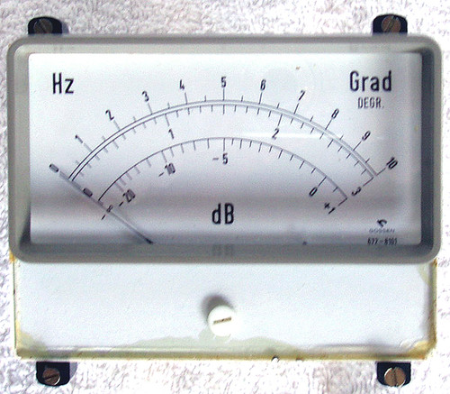 Late 1970's GOSSEN (German) Large 600uA Illuminated Moving Coil Meter