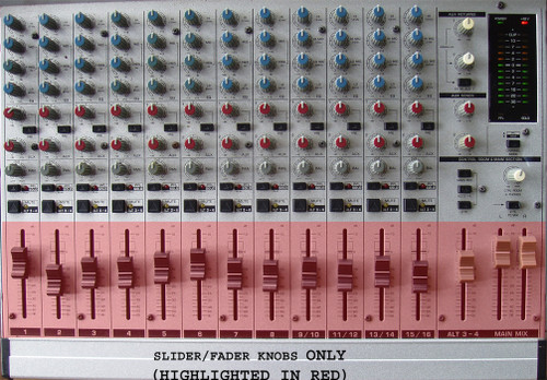 (SPARE PART) BEHRINGER 20 Channel Audio Mixer MX 2004A Fader Knobs