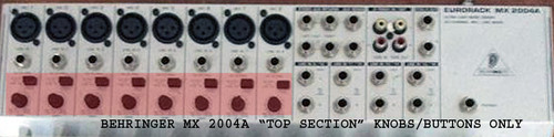 (SPARE PART) BEHRINGER 20 Channel Audio Mixer MX 2004A Top Buttons Knobs