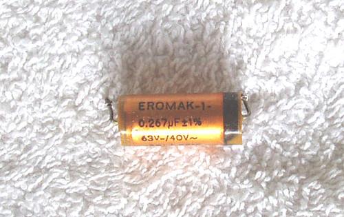 ERO (German) Precision FKF Capacitor 0.267uF (267nF) 63V 1% USED