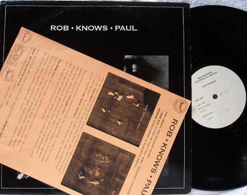 Acoustic Indie Rock - ROB CRAW & PAUL THOMAS Rob Knows Paul  Vinyl 1990
