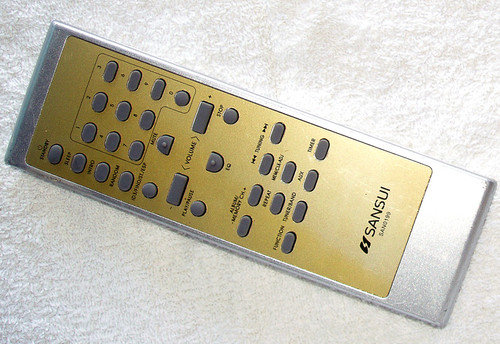 SANSUI Audio System Remote Control Model: SAN0199 Gold (ONLY) TESTED/WORKING