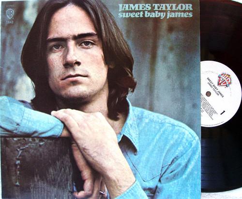 Acoustic Folk Blues Rock - JAMES TAYLOR Sweet Baby James  Vinyl 1970