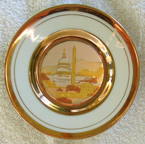CHOKIN  Pin Dish (An Example Of Japanese Metal Engraving 24KT Gold)