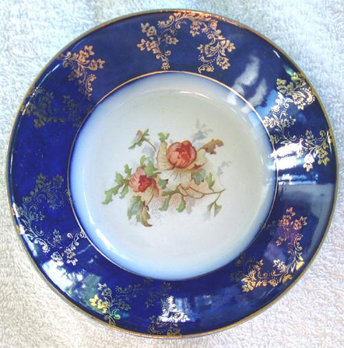 Victorian Edwardian WOOD & SON (England) Blue Wash Bowl