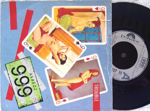 "Punk Rock - 999 (Nine Nine Nine) Trouble 7"" Vinyl 1980"