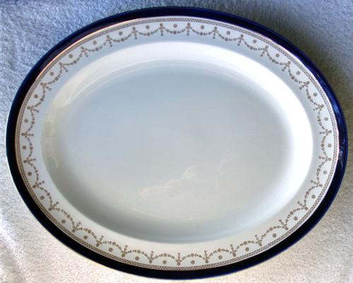 "ALFRED MEAKIN #1867 ""Bleu De Roi"" English Chinaware -  14"" Serving Platter"